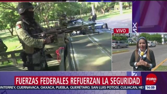 FOTO: Fuerzas federales refuerzan seguridad Culiacán
