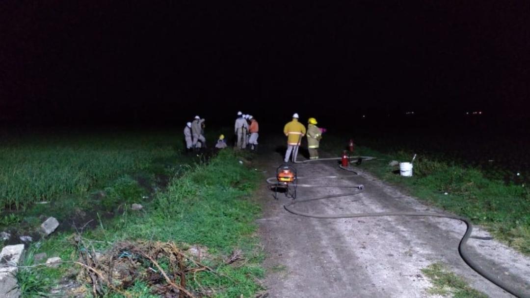Foto: Controlan fuga de gas LP en terrenos de cultivo de Tepeaca, Puebla, 17 octubre 2019