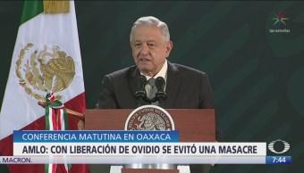 Gabinete de Seguridad decidió liberar a Ovidio Guzmán: AMLO