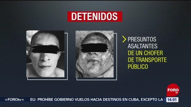 FOTO: Golpean a dos presuntos asaltantes de transporte público en Taxqueña, 27 octubre 2019