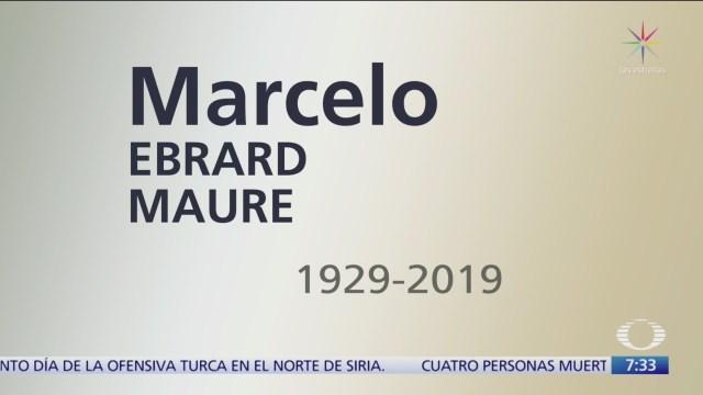 Grupo Televisa envía condolencias a Marcelo Ebrard por fallecimiento de su padre