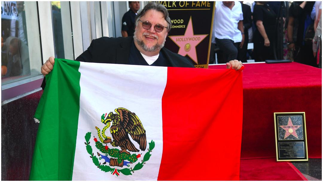 Imagen: Guillermo del Toro pone el nombre de México en alto, 8 de octubre de 2019 (Getty Images)