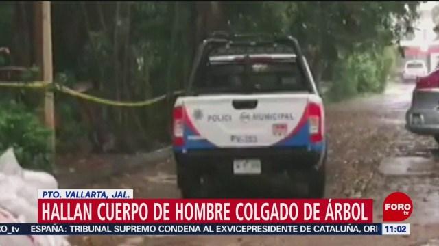 Hallan cuerpo de hombre colgado de árbol en Puerto Vallarta, Jalisco