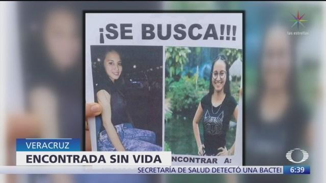 Hallan muerta a joven desaparecida en Veracruz