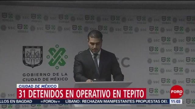 Harfuch confirma que fue localizado un narcotúnel en Tepito