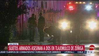 FOTO: Hombre armados matan a dos en Tlajomulco de Zúñiga, en Jalisco, 19 octubre 2019