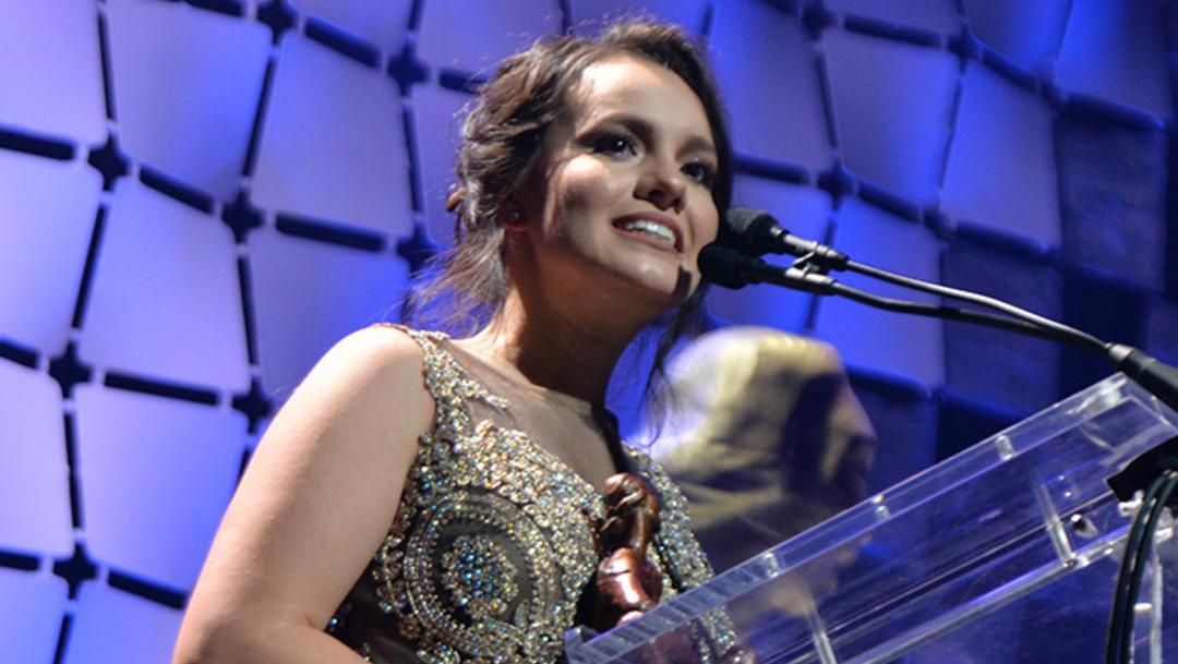 Foto: La hija menor del cantante mexicano, quien ha estado rodeada de polémica por las condiciones en que falleció su papá, 24 de octubre de 2019 (Getty Images)