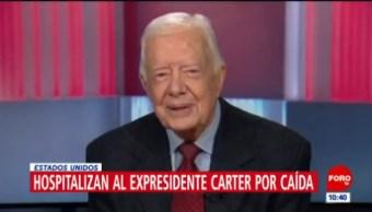 Hospitalizan al expresidente de EU Jimmy Carter