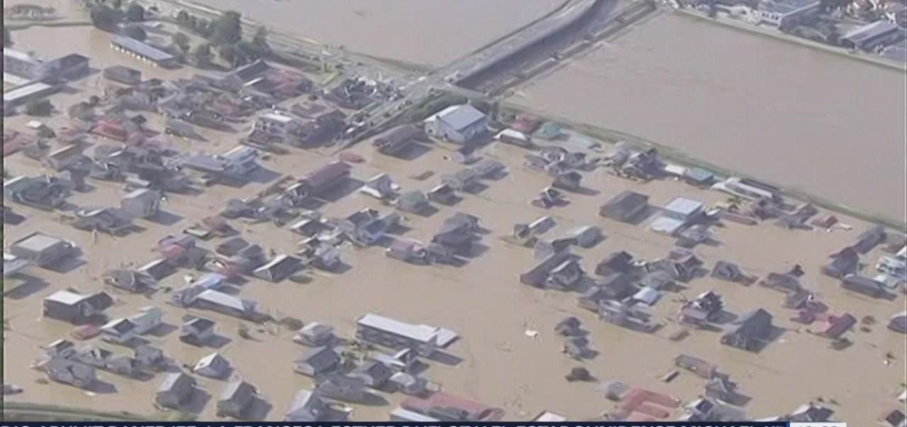 Imágenes del tifón Hagibis a su paso por Japón