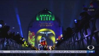Inauguran mapping monumental en Monumento a la Revolución