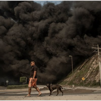 Activan Plan Marina por incendios en Baja California