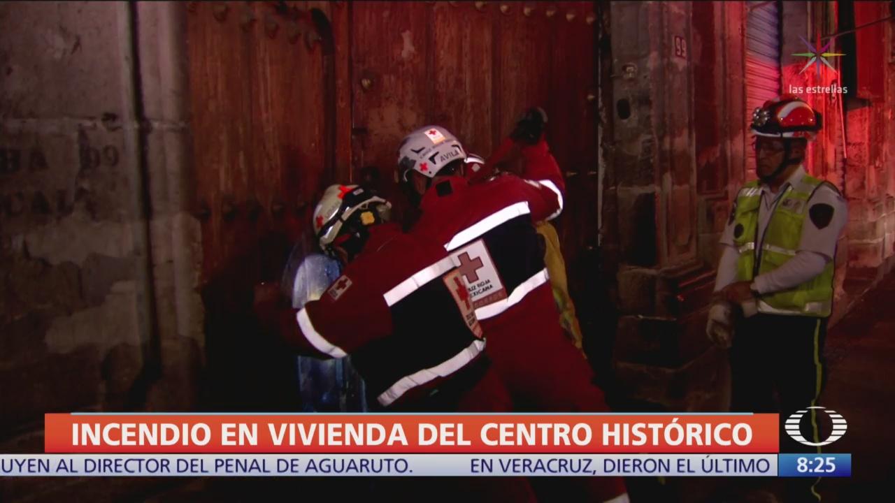 Incendio en casa habitación en el Centro Histórico, CDMX