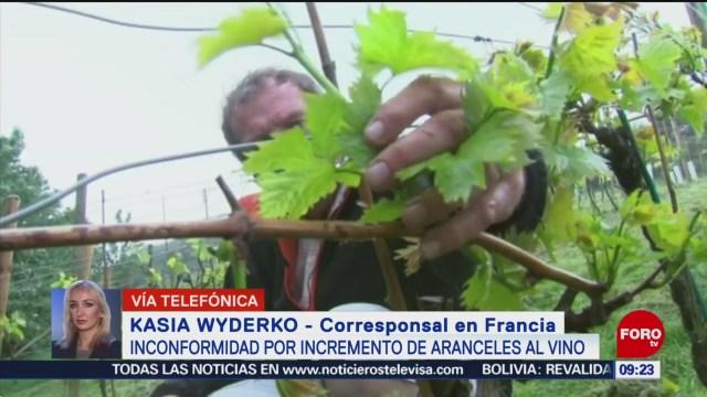 FOTO: Inconformidad por incremento de aranceles al vino en Francia, 26 octubre 2019