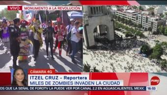 FOTO: Inicia Marcha Zombie en Paseo de la Reforma, 19 octubre 2019