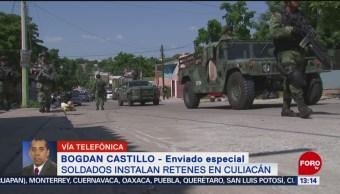 FOTO: Instalan Retenes Culiacán Sinaloa