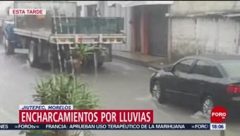 FOTO: Intensa lluvia sorprende a habitantes de Jiutepec, Morelos, 25 octubre 2019