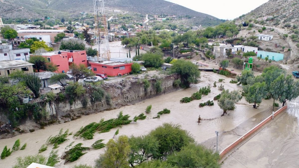 Inundación en Tamaulipas.