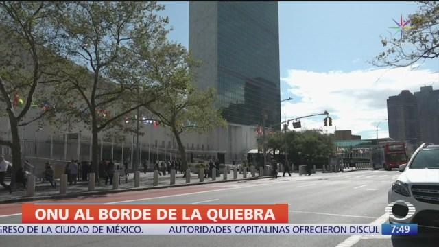 La ONU está al borde de la quiebra
