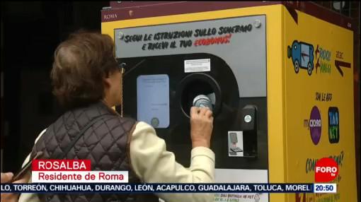 Foto: Campaña Fomentar Reciclaje Roma 7 Octubre 2019