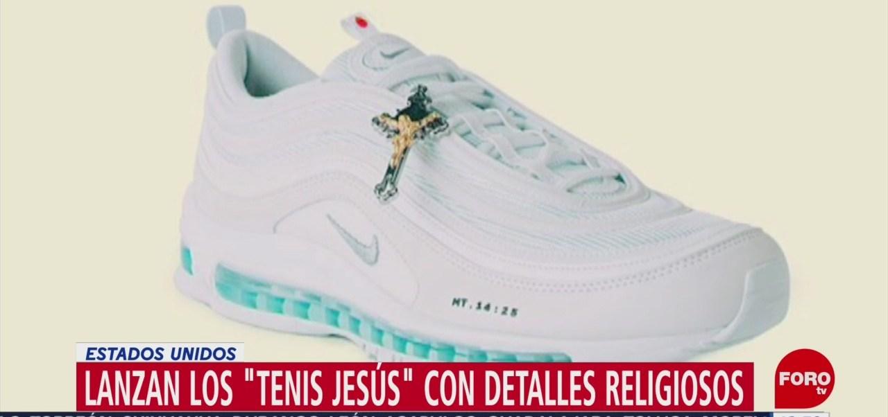 Lanzan tenis 'Jesús' con agua del río Jordán, se venden por 3 mil dólares