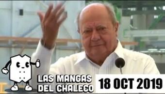 Las Mangas del Chaleco con las 'diferencias' entre AMLO y empresarios, la renuncia de Deschamps y la polémica Ley Bonilla.