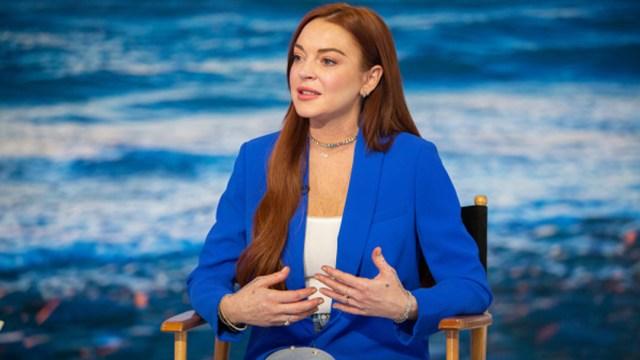 Fotografía de la actriz Lindsay Lohan, 31 octubre 2019