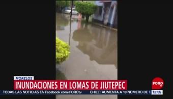 Lluvia causa severas inundaciones en el municipio de Jiutepec