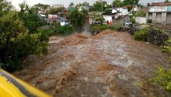 Lluvias en Morelos hoy provocan encharcamientos