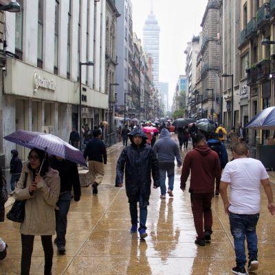 Lluvias en la Ciudad de México.