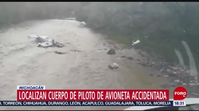 Foto: Avioneta Accidentada Michoacán Localizan Cuerpo Piloto 24 Octubre 2019