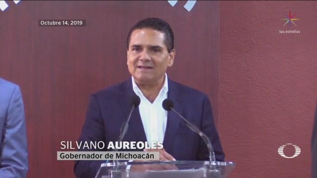 Foto: Mensajes Sánchez Cordero Aureoles Emboscada Aguililla 15 Octubre 2019
