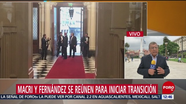 Macri y Fernández se reúnen para iniciar transición de gobierno