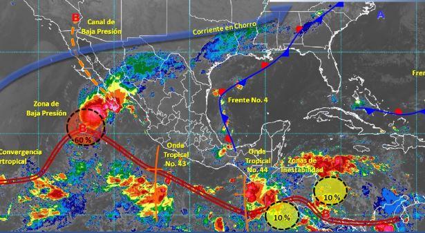 Foto: Imagen de fenómenos meteorológicos significativos de las 06:00 horas, 13 octubre 2019