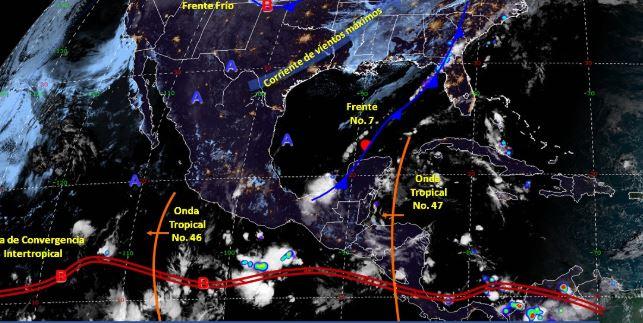 Foto: Imagen de fenómenos meteorológicos significativos de las 06:00 horas, 27 octubre 2019