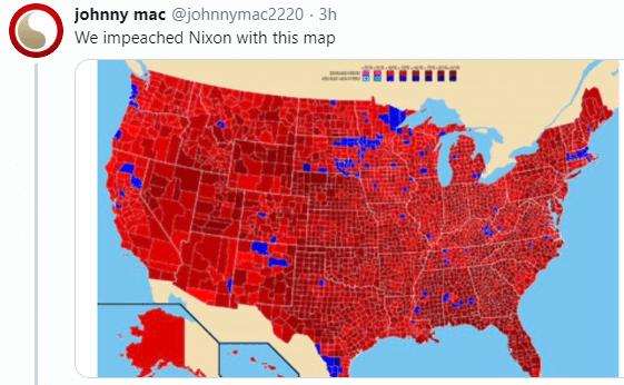 IMAGEN Mapa de impeachment a Nixon, en respuesta a Trump (Twitter)