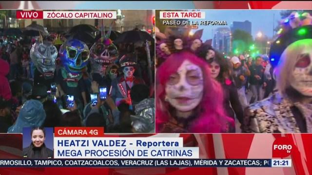 FOTO: Mega Procesión congregó a miles de catrinas y catrines en CDMX, 26 octubre 2019