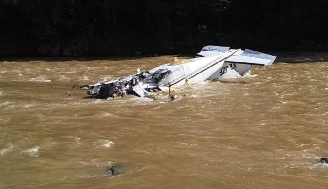 Foto: Una avioneta se desplomó en la Sierra de Villa Madero en Michoacán, el 23 de octubre de 2019 (Quadratín Michoacán)