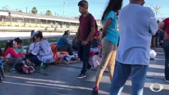 Cansancio y desperación; migrantes centroamericanos exigen asilo a EU