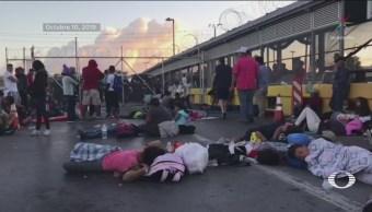 Foto: Migrantes Padecen Condiciones Precarias Frontera México-Eu 11 Octubre 2019