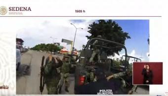 Foto: Militar pierde su pierna durante las agresiones de grupos organizados en Culiacán, 30 octubre 2019