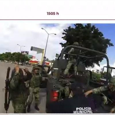 Sedena muestra video de militar con pierna amputada tras agresiones en Culiacán