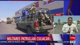 FOTO: Militares patrullan Culiacán Sinaloa