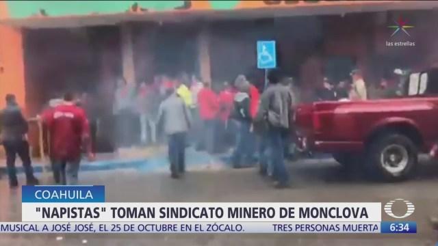 Mineros se enfrentan en Monclova, Coahuila
