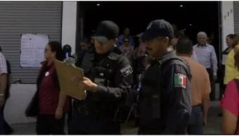 Foto: Hombres armados violentaron las asambleas distritales de Morena en Jalisco, 12 de octubre de 2019 (Foro TV)