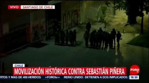 FOTO: Movilización histórica contra gobierno de Piñera, 25 octubre 2019