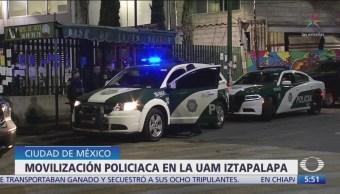Movilización policíaca en la UAM Iztapalapa por objeto extraño