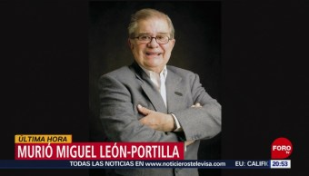 Foto: Muere Historiador Miguel León-Portilla Hoy 93 años 1 Octubre 2019