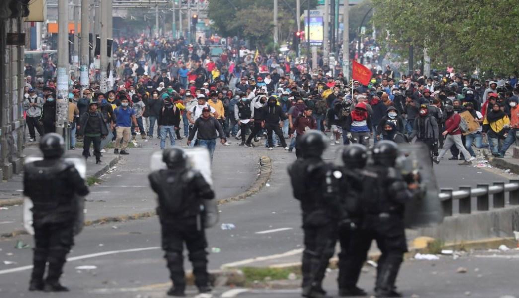 Foto Muere indígena durante protesta en Quito, Ecuador