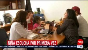 Foto: Niña Escucha Primera Vez Gracias Tamiz Auditivo Neonatal 8 Octubre 2019