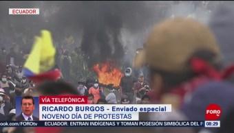 FOTO: Noveno día de protestas en Ecuador, 12 octubre 2019